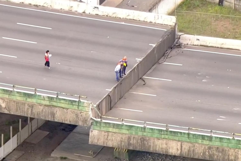Viaduto na Marginal Cede em São Paulo